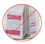 Book with highlighting